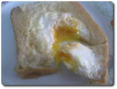 Y ya está, ya tenemos nuestras tostadas con huevo listas para comer. Buen provecho internautas ;-)